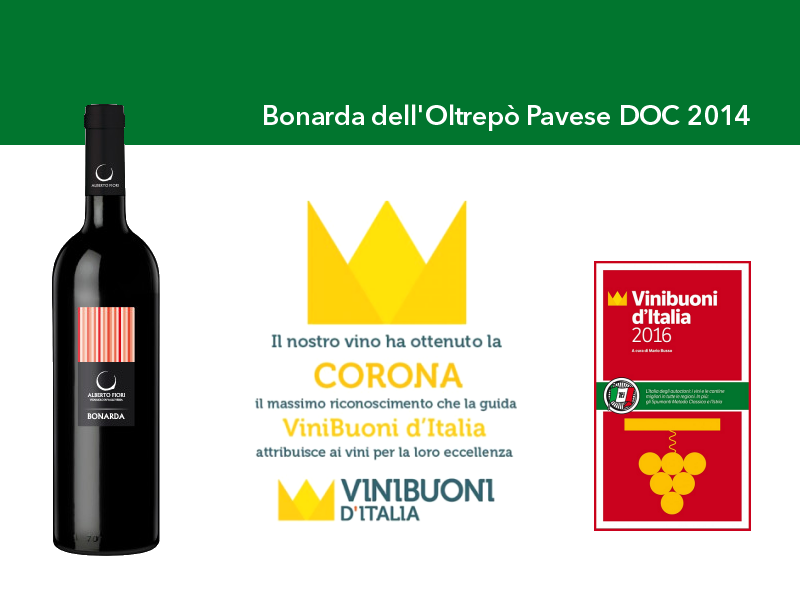 Vinibuoni d'Italia 2016 Corona Bonarda 2014