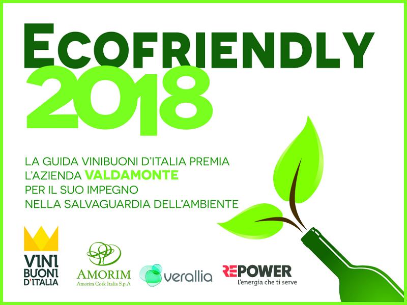 Vinibuoni d'Italia 2018 - Premio Ecofriendly - Azienda agricola Valdamonte