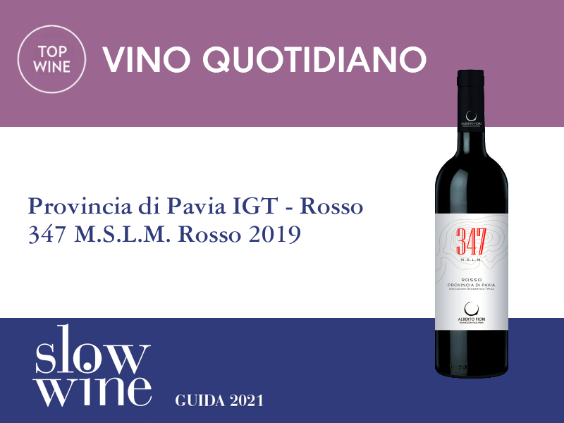 Slow Wine 2021 - Premio Vino Quotidiano - 347 M.S.L.M. Rosso